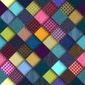Diagonální geometrické pozadí ve stylu patchwork. — Stock vektor