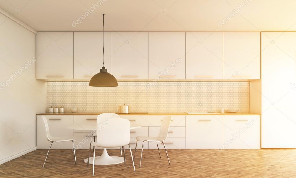 Keuken interieur met zonlicht — stockfoto © denisismagilov #115327558