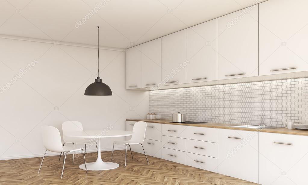 Interieur van de keuken met eethoek — stockfoto © denisismagilov ...