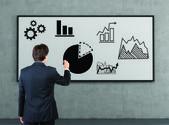 Disegno grafico di uomo d'affari — Foto Stock