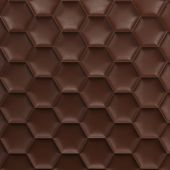Brown honeycomb background — Stock Photo