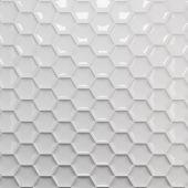 White honeycomb background — Stock Photo