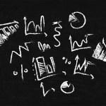 Charts drawn in chalk — Stock Photo #60234375