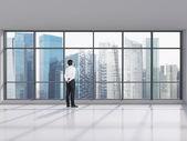 Affärsman i office — Stockfoto