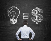 Idea equals money — Stock Photo