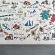 Strategy drawing on wall — Stock Photo #61087813