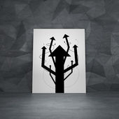 Placard with arrows in form tree — Stock Photo