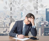 Man working in office — Stock Photo