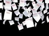 Tax papers — Stock Photo