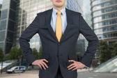 Empresário de terno — Fotografia Stock