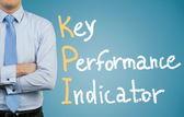 Businessman and KPI — Stock Photo