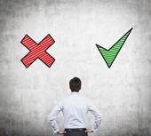 Advantages and disadvantages — Stock Photo