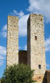 Two medieval towers — Stock Photo