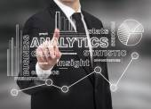 Businessman touching analytics — Stock Photo