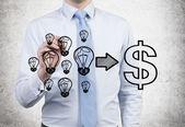 Ideas to money — Stock Photo