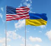 Flags of usa and Ukraine — Stock Photo