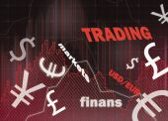 Charts and money symbol — Fotografia Stock