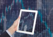 Chart in tablet pc — Stock Photo