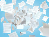 Tax papers falling — Stock Photo