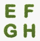 Grass letter set — Stock Photo