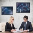 Two businesspeople working — Stock Photo #64385535