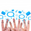 Happy group of finger — Stock Photo #64556327