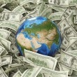 Globe and dollar — Stock Photo #64716497