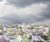 Billetes en euros — Foto de Stock