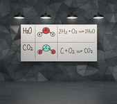 Chemical elements H2SO4, HNO3 — Stock Photo