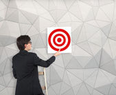 Poster with target — Stock Photo