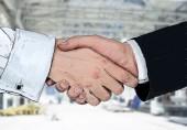 Drawing handshake — Stock Photo