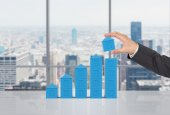 Chart in form skyscraper — Stock Photo