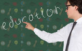 Student drawing education — Stock Photo