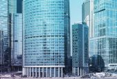Close up of Moscow-City business district — Stock Photo