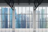 Contemporary office with Singapore view. Financial city centre. — Стоковое фото