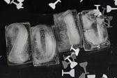 New year 2015 ice cube — Stockfoto