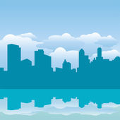 Vector abstract blue city — Stockvektor