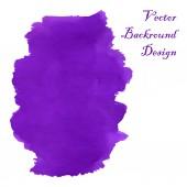 Violet swirl watercolor  — Stock Vector