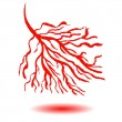 Blood vessels concept. — Stock Vector #54289671