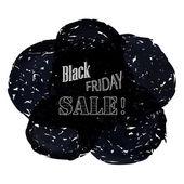 Noir fond vente vendredi pour la bannière publicitaire. illustration vectorielle. — Vecteur