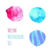 Watercolor beautiful spots — Stock vektor