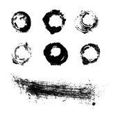 黑色墨水笔刷 — 图库矢量图片