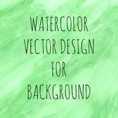 Зеленая акварель — Cтоковый вектор