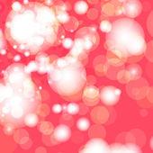 Red and white bokeh lights — Stockvector