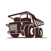 Truck mining — Stock Vector