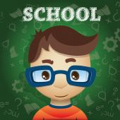 студент школы — Cтоковый вектор