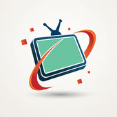 Abstract tv icon — Stock Vector
