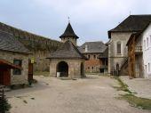 Khotyn fortress courtyard — Stock Photo