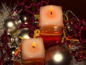 Christmass candles — Stock Photo