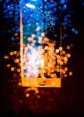 свеча света в рождество — Стоковое фото